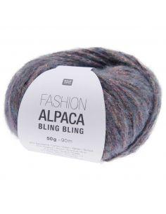 Pelote Fashion alpaca bling bling pétrole