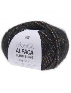 Pelote Fashion alpaca bling bling noir