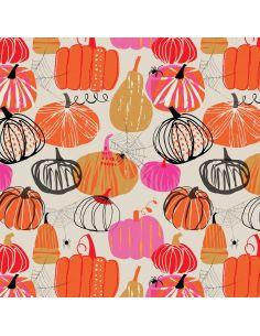 Tissu en coton Full moon Pumpkins