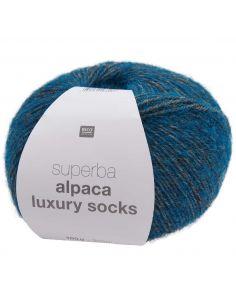 Pelote Rico socks superba alpaca luxury azur