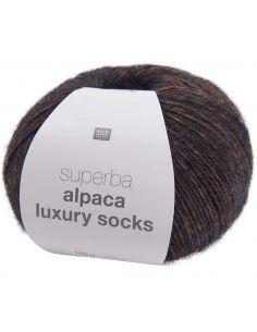 Pelote Rico socks superba alpaca luxury brun marine