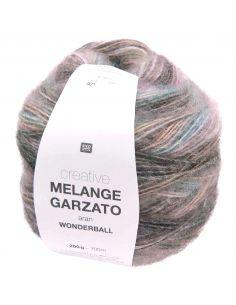 Pelote Creative melange garzato aran - wonderball lilas clair-turquoise
