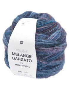 Pelote Creative melange garzato aran - wonderball lilas-pétrole