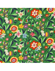 Tissu en coton Kaleidoscope ace lawn green