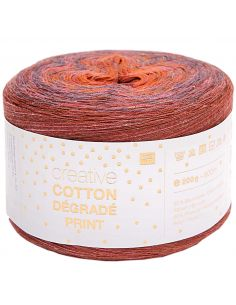 Pelote Creative cotton dégradé Print rouge-orange
