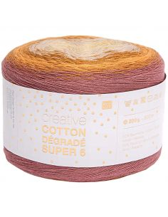Pelote Creative cotton dégradé Super 6 moutarde mix