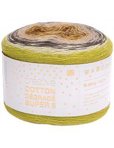 Pelote Creative cotton dégradé Super 6 vert mix