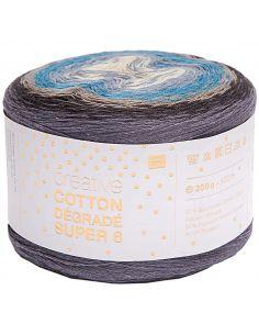 Pelote Creative cotton dégradé Super 6 bleu mix