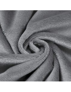 Coupon de tissu peluche shorty gris foncé