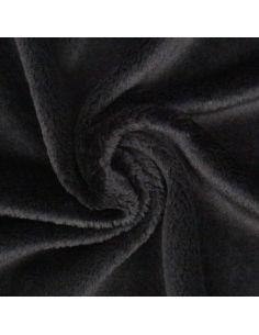 Coupon de tissu peluche Snugly 5mm noir