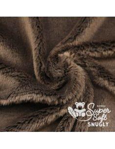Coupon de tissu peluche Snugly 5mm brun