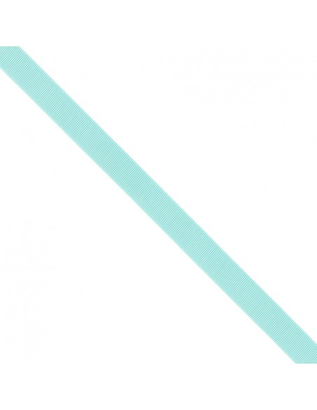 Ruban Gros grain unis 16mm Bleu lagon