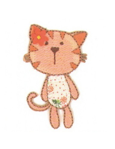 Motif thermocollant Collection Vichy - Le chat