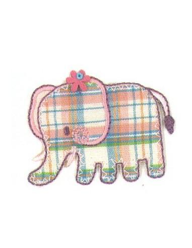 Motif thermocollant Collection Vichy - L'éléphant