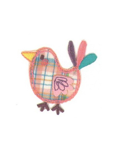 Motif thermocollant Collection Vichy - L'oiseau