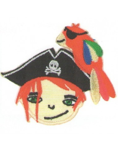 Motif thermocollant Collection Pirates - Le pirate au perroquet