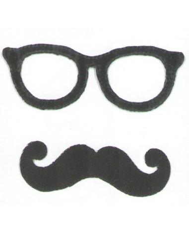 Motif thermocollant Collection Moustache - Noir