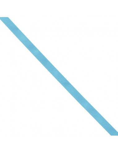 Ruban Gros grain unis 9mm Bleu azur