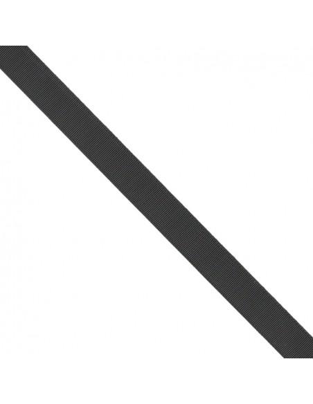 Ruban Gros grain unis 25mm Noir