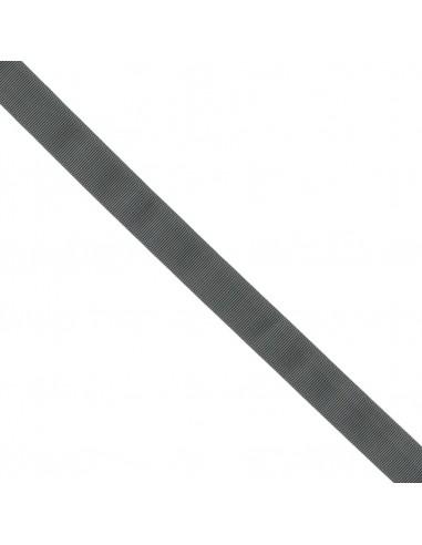 Ruban Gros grain unis 25mm Gris charbon
