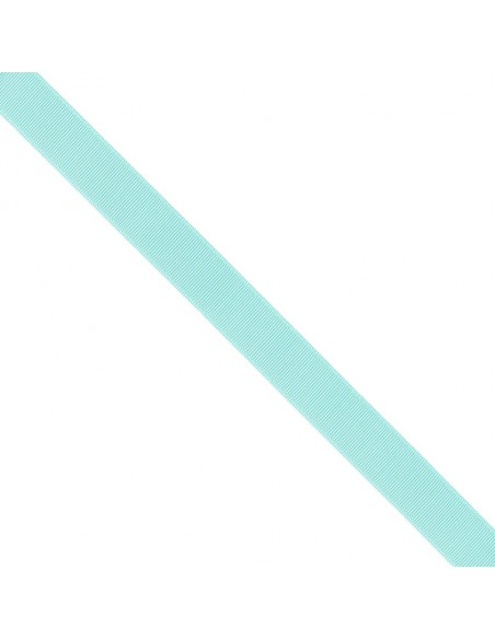 Ruban Gros grain unis 25mm Bleu lagon