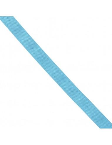 Ruban Gros grain unis 25mm Bleu azur