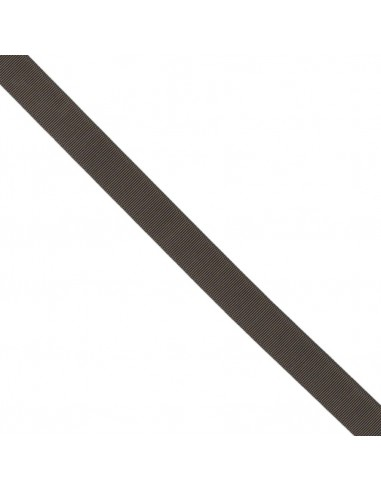 Ruban Gros grain unis 25mm Chocolat