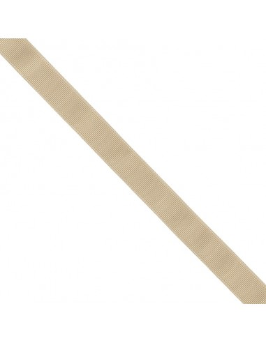 Ruban Gros grain unis 25mm Sable