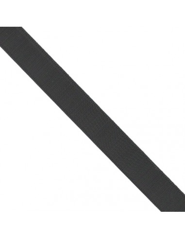 Ruban Gros grain unis 38mm Noir