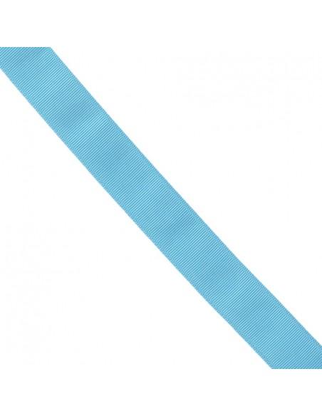 Ruban Gros grain unis 38mm Bleu azur