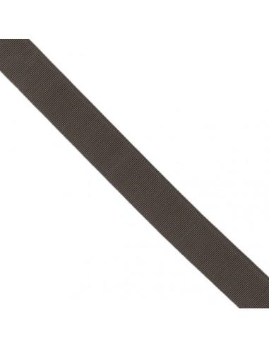 Ruban Gros grain unis 38mm Chocolat