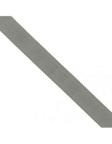 Ruban Gros grain unis 38mm Gris ciment