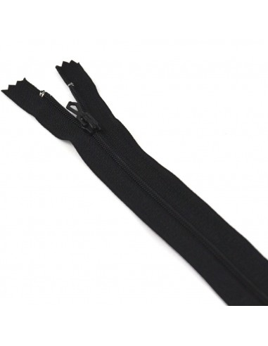 Fermeture Eclair Nylon 18cm Noir