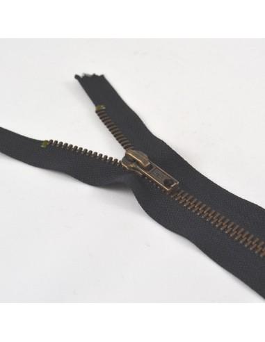 Fermeture Eclair Métallique Jeans 18cm Noir