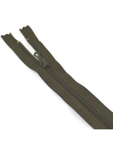 Fermeture Eclair Nylon 12cm Kaki