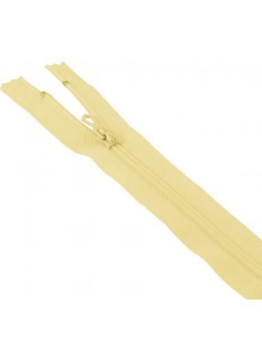 Fermeture Eclair Nylon 10cm Jaune paille