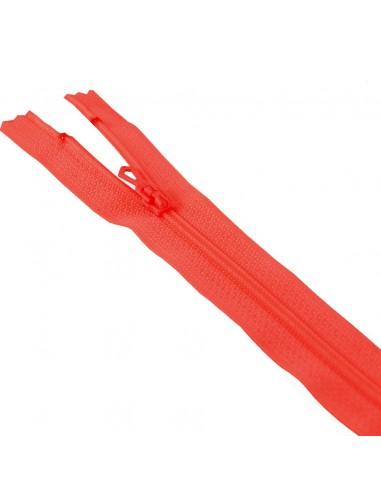 Fermeture Eclair Nylon 12cm Rouge vermillon