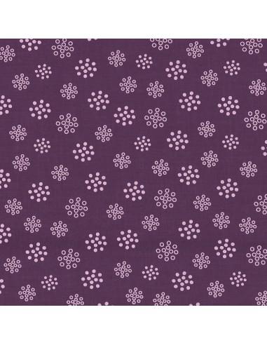 Tissu en coton léger A bicyclette Prune délicate coloris 206