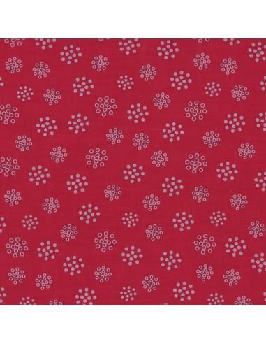 Tissu en coton léger A bicyclette Bordeau glamour coloris 214
