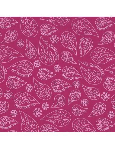 Tissu en coton léger A bicyclette Camélia coloris 307