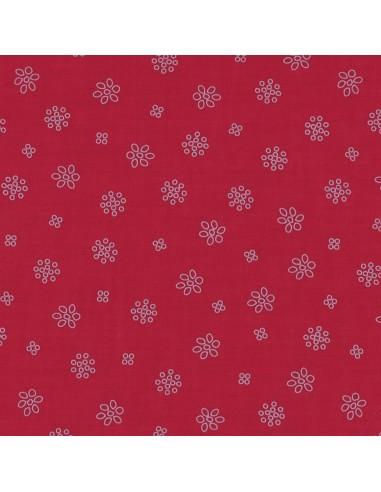 Tissu en coton léger A bicyclette Bordeau glamour coloris 414