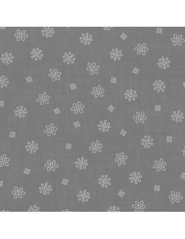 Tissu en coton léger A bicyclette Taupe coloris 401