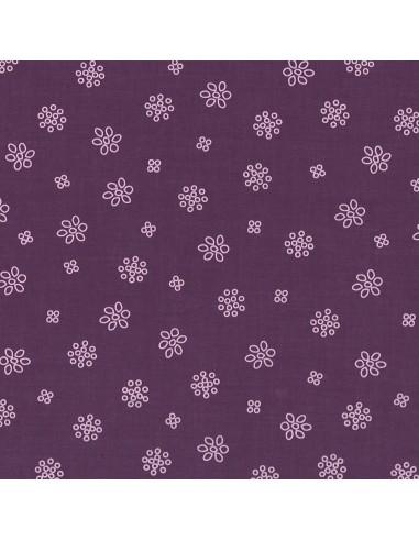 Tissu en coton léger A bicyclette Prune délicate coloris 406