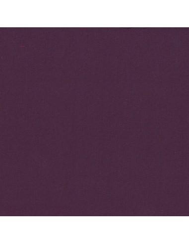 Tissu en coton léger Unis Prune délicate