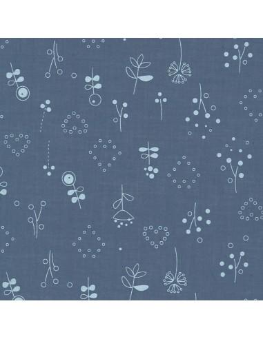 Tissu en coton léger Odonata Ardoise cendrée motif 503
