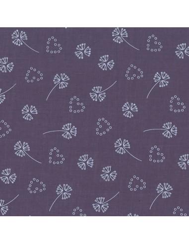 Tissu en coton léger Odonata Violet sage motif 204
