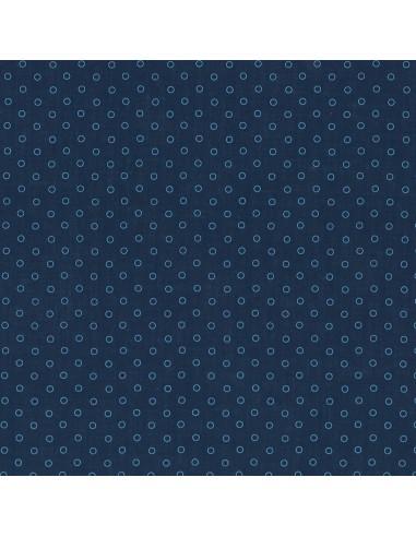 Tissu en coton léger Odonata Bleu intense motif 410