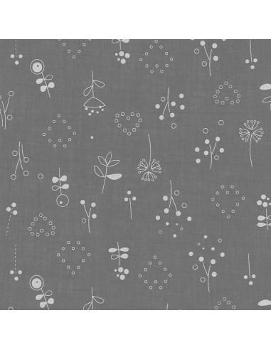 Tissu en coton léger Odonata Ciel d'orage motif 502