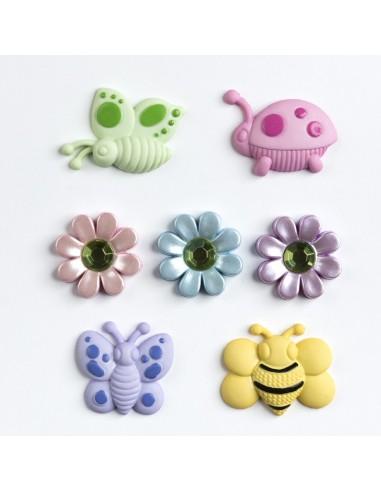 Assortiment de 7 boutons décoratifs - Collection Layette - Ça butine