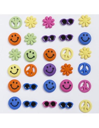 Assortiment de 30 boutons décoratifs - Collection Plage - Smile